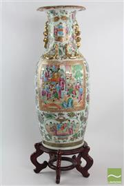 Sale 8533 - Lot 20 - C19th Famille Rose Vase on Timber Stand