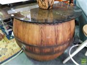 Sale 8532 - Lot 1025 - Rustic Drum Stool