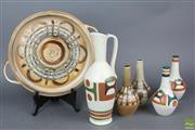 Sale 8626 - Lot 74 - Hand Painted Israeli 1970s Ceramics Incl Jugs, Vases And Trays