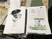 Sale 8759 - Lot 2307 - Six Certified Bradman Caricatures