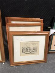 Sale 8824 - Lot 2080 - Group of (7) Early English Engravings (framed) -