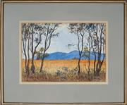 Sale 8903 - Lot 2046 - John Flexmore (1911 - 2003) - Hills and Saplings, 1918 26.5 x 38.5 cm
