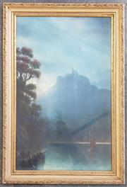 Sale 8973 - Lot 2016 - J. A. Bond (active c1898 - 1911)  Mount Manaia, New Zealand pastel 56 x 38cm (frame) signed lower left -