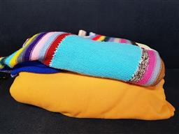 Sale 9254 - Lot 2110 - 2 Boxes of Knitted Blankets, Fabric etc