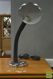 Sale 8289 - Lot 1063 - Chrome Base Snake Neck Table Lamp