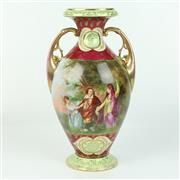 Sale 8412A - Lot 11 - Royal Vienna Double Handled Vase height - 33cm