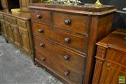 Sale 8472 - Lot 1006 - Mahogany Chest of 5 Drawers