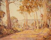 Sale 8609 - Lot 2001 - Andrew Park (active 1940s - 1960s) - Country Road 39.5 x 50cm