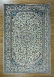 Sale 8665C - Lot 52 - Persian Nain Silk Inlaid 363cm x 250cm