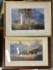 Sale 8771 - Lot 2077 - 2 Darcy Doyle Prints: Turning them Home, 348/2000; & Clancy of the Overflow