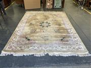 Sale 9051 - Lot 1047 - Large Chinese Embossed Rug (375 x 278cm)