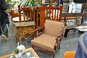 Sale 7974A - Lot 1079 - Large Timber Frame Armchair