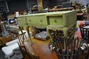 Sale 8035 - Lot 1076 - Timber Dressing Table w 3 Drawers