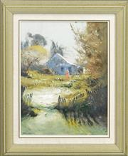 Sale 8301 - Lot 504 - Colin Parker (1941 - ) - Near Wattle Flat 37 x 28.5cm
