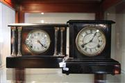 Sale 8379 - Lot 158 - Vintage Mantel Clocks in Japanese Timber Sessions and Saunders