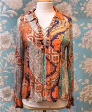 Sale 8474A - Lot 41 - A gorgeous Little Joe Woman by Carl Elliott blouse, in very good condition, size L