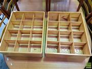 Sale 8480 - Lot 1070 - Pair of Pine Small Shelves