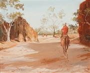 Sale 8583A - Lot 5060 - Keith Naughton (1925 - ) - The Gap, MacDonnell Ranges 39.5 x 50cm