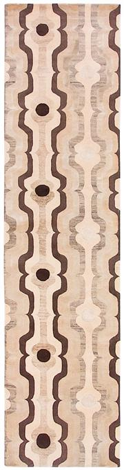 Sale 8563A - Lot 29 - The Florence Broadhurst Collection Design; Swedish Stripe Made in; Nepal Colour; Beige Made from; Tibetan Wool, Chinese Silk...