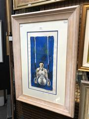 Sale 8759 - Lot 2040 - Ross Wilson - Rings oil stick, 77.5 x 54cm (frame), signed lower right