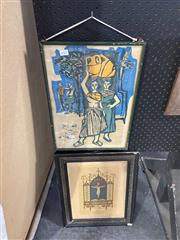 Sale 8927 - Lot 2081 - Two Prints Incl Religious