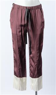 Sale 9003F - Lot 45 - A Forte Forte (Brand New) Italian brown & white pants Size  40