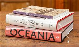 Sale 9160H - Lot 54 - A group of three reference books including Arts of the Pacific Island, Oceania, and the arts of the South Pacific