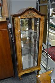 Sale 8035 - Lot 1081 - Timber Display Cabinet w Mirror Back & Base w Glass Panel Sides & Door