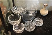 Sale 8081 - Lot 64 - Orrefors Bowl with Other Crystal including Kosta