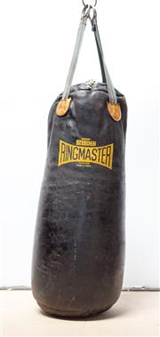 Sale 8261A - Lot 4 - A vintage black leather boxing bag by Steden 'Ringmaster'
