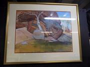 Sale 8433 - Lot 2037 - Robyne Palmer, The Far North, watercolour/gouache, 56 x 76cm, signed lower right