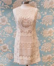 Sale 8474A - Lot 42 - A gorgeous Nannette Lepore crotchet style dress, in good condition (faint mark), size 8