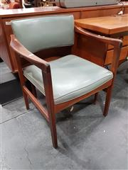 Sale 8684 - Lot 1013 - T.H. Brown Desk Chair with Leather Upholstery