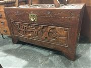Sale 8760 - Lot 1056 - Carved Timber Trunk