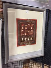 Sale 8771 - Lot 2066 - John Winch - Ancient Game Zenes No.III colour etching, 55 x 45cm (frame) signed -