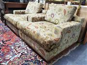 Sale 8826 - Lot 1094 - Pair of Floral Fabric Club Chairs