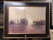 Sale 8861 - Lot 2030 - Rex Backhaus-Smith - Early Morning Tide, Summerpastel on paper, 93.5 x 73cm (frame)