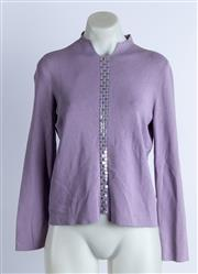 Sale 9003F - Lot 61 - A Versace long sleeve knit in mauve, size 42