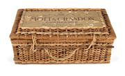 Sale 8444A - Lot 8 - A vintage French cane Moet and Chandon champagne basket / carrier, 38 x 22 x 14