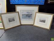 Sale 8561 - Lot 2007 - Collection of (3) hand-coloured lithographs, each framed