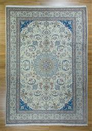 Sale 8617C - Lot 73 - Super Fine Persian Nain Silk Inlaid 246x360