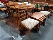 Sale 8801 - Lot 1037 - McIntosh Teak Table and 6 Chairs