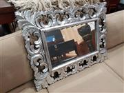 Sale 8724 - Lot 1035 - Ornate Silver Painted Timber Framed Mirror