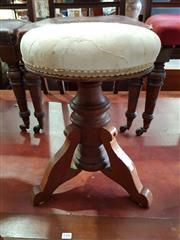 Sale 8740 - Lot 1178 - Carved Timber Piano Stool