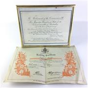 Sale 8793 - Lot 85 - The Parliament of the Commonwealth Invitation Request to The Hon. A.T. Kerr M.L.C and Lady for The Opening of Parliament 9th May 190...