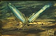 Sale 8799 - Lot 542 - Kevin Charles (Pro) Hart (1928 - 2006) - Dragonfly Study 14 x 22cm