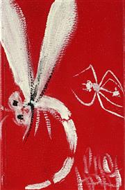 Sale 8947A - Lot 5012 - Kevin Charles (Pro) Hart (1928 - 2006) - Dragonfly and Ant 10.5 x 7 cm (frame: 36 x 32 x 3 cm)