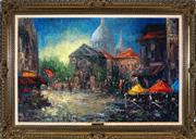 Sale 9008 - Lot 2095 - Rene Helm - Markets Stalls in the Plaza, frame: 75 x 106 cm