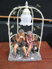 Sale 7972A - Lot 1005 - Lovers Themed Lamp