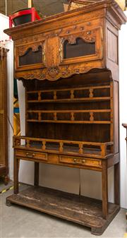 Sale 8287A - Lot 41 - A magnificent 19th Century French Farmhouse buffet / sideboard of grand proportions. Handcrafted from Walnut, showcasing carved deta...